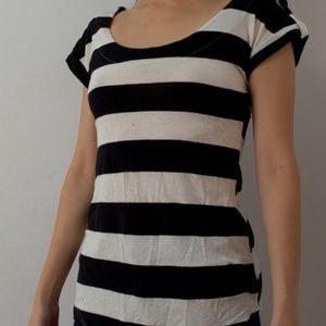 Used Striped Cap-Sleeve T-Shirt